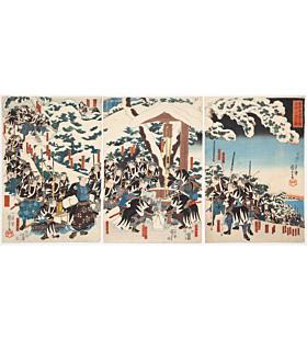 kuniyoshi utagawa, The Forty-seven Ronin's Tribute to their Master, faithful samurai