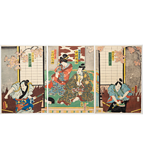 toyokuni III utagawa, Kabuki Play, Chiyo no Haru Tosa-e no Sayaate