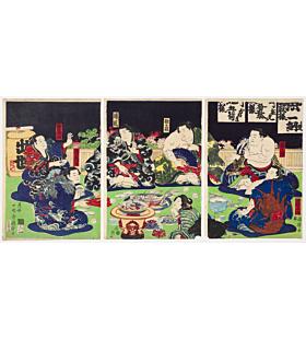 Kuniteru II Utagawa, Sumo Wrestlers