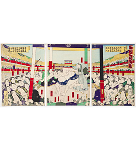 Kuniaki II Utagawa, Kanjin Sumo