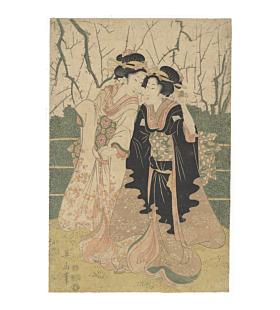 eizan kikukawa, beauties, edo period, kimono