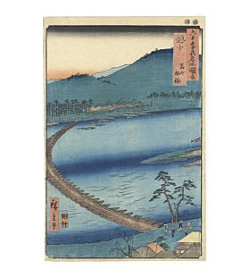 Hiroshige I Utagawa, Toyama, Funabashi in Etchu, Famous Views of the Sixty-odd Provinces