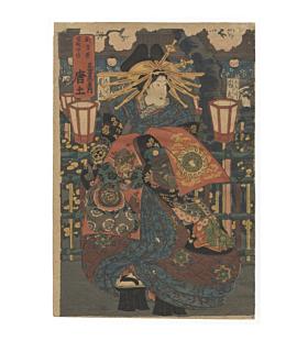 courtesan, beauty, kimono design
