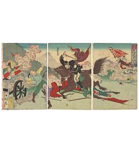 kokunimasa utagawa, war print, battle