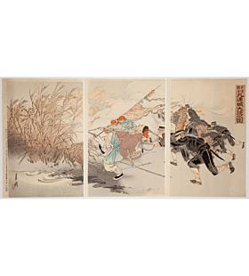 Gekko Ogata, Jingzhou Castle Pursuit, The First Sino-Japanese War