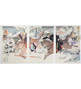 kokunimasa utagawa, The Battle near Mukden(奉天府付近戦闘), First Sino-Japanese War