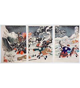 nobukazu yosai, Battle of Yingkou (我第二軍牛荘附近大戦争之図), sino-japanese war