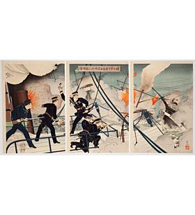 ginko adachi, Vice Admiral Kabayama Attacking Chinese Navy(樺山軍令部長西京丸を以て敵艦に当たる), sino-japanese war
