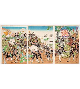 nobukazu yosai, Occupying Jinzhou(金州城占領の図), sino-japanese war