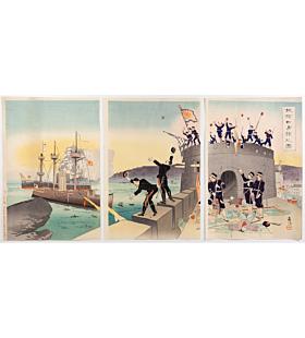 Beisaku Taguchi, The Occupation of Port Arthur, The First Sino-Japanese War