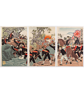 beisaku taguchi, The Occupation of Port Arthur(旅順口占領之図), sino-japanese war