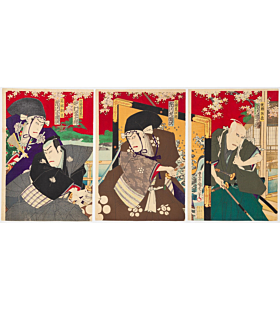 Kunichika Toyohara, Kabuki Play, Yushoku Kamakurayama