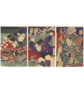 chikanobu toyohara, kabuki actors, traditional theatre, japanese design