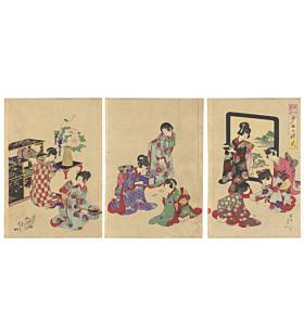 Chikanobu Yoshu, Picture of Etiquette for Girls