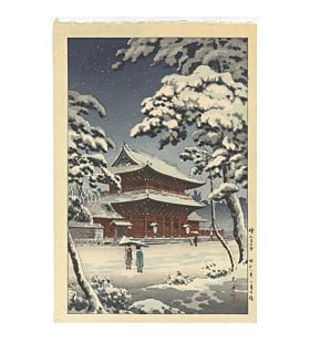 Koitsu Tsuchiya, Zojo-ji Temple in Snow