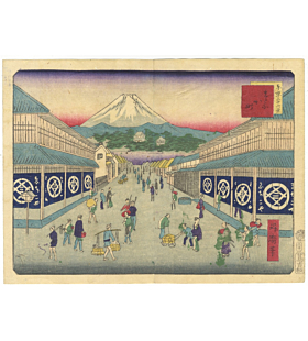 shosai ikkei, mount fuji japan, tokyo, landscape, famous view, old town, shops, travel