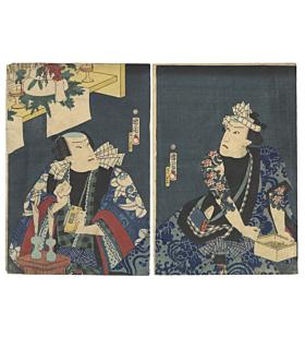 Kunichika Toyohara, New Year Offering, Tattoo Design, japanese woodblock print