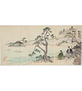 Chikanobu Yoshu, Fishing, The Outer Palace of Chiyoda