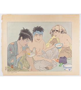 paul jacoulet, Le Repas des Mendiants, Seoul, Corée, begga's meal, korea, french artist