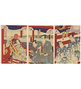 kunimasa IV utagawa, kabuki theatre, performance, traditional art