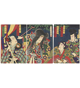 chikashige morikawa, kabuki theatre, performance, traditional art, tsuchigumo, spider story, earth spider, supernatural