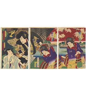 Kunichika Toyohara, Kabuki Theatre, The Tale of The Gallant Jiraiya