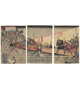 yoshifuji utagawa, warrior, samurai, japanese history, legendary hero, edo period