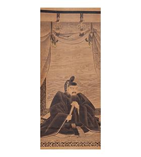 tenjinsama, michizane, scholar, kakejiku, decorative