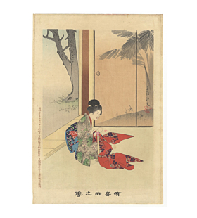 shuntei miyagawa, sewing, kimono, design, flowers of the floating world