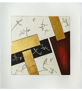 Shinichi Nakazawa, Yatsuhashi IX, Contemporary Art, Original Japanese woodblock print