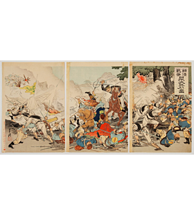gekko ogata, sino-japanese war, japanese history, japanese battle, meiji period
