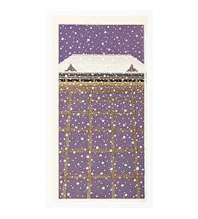 temple in the snow, landscape, japanese winter, teruhide kato, contemporary art
