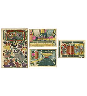 paper dolls, game, chushingura, faithful samurai
