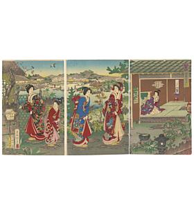 tea ceremony, traditional art, kimono design, japanese pattern, landscape, japanese culture