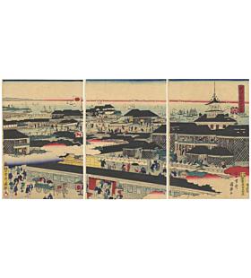 meiji period, landscape, tokyo, fish market
