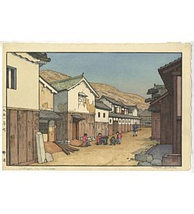 toshi yoshida, village in harima, landscape