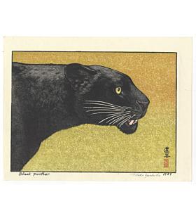 toshi yoshida, black panther, animal print