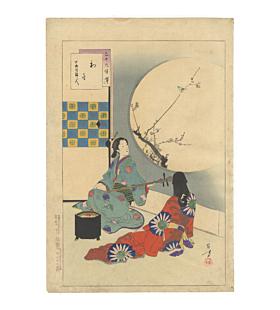 toshikata mizuno, First Warbling Heard in the New Year, beauty, music