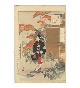 toshikata mizuno, japanese tea ceremony, beauty