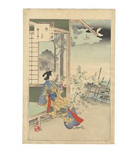 Toshikata Mizuno, A Woman of the Enkyo Era, The Thirty-six Elegant Selections
