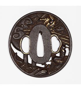 tsuba, sword guard, japanese sword, katana, hand guard, sword fitting, swordsmith, artisan, iron, samurai, dragon