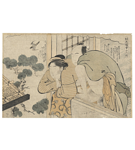 Katsukawa Shuncho, Erotic Print, Shunga, japanese woodblock print, kimono
