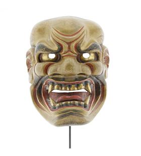 Kijin'kei, Mask of a Fierce God, Noh Theatre, Original Japanese antique