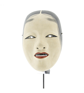 Zo'onna, Noh Mask of a Woman, Traditional, Wood, Theatre, Original Japanese antique