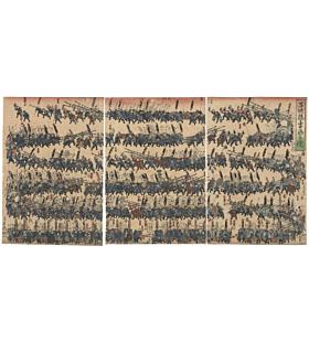 Yoshifuji Utagawa, Children as Firemen, Kodomo-e, japanese woodblock print