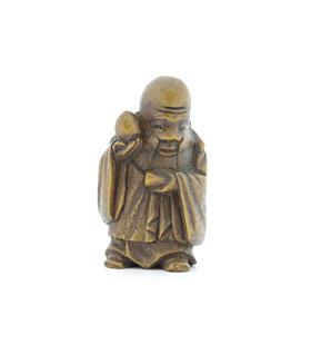 Wooden Netsuke, Shouxing, God of Longevity, Japanese antique, japanese folklore