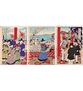 war print, senso-e, japanese history, japanese imperial army, meiji period