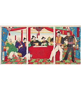 council of war, sino-japanese war, senso-e, korea, japanese imperial army, meiji era, japanese history