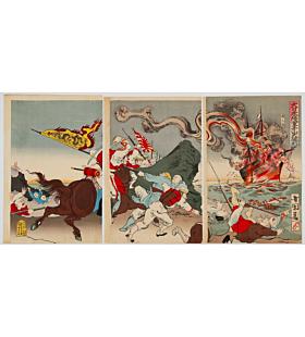 kunimasa V utagawa, meiji period, battle, japanese imperial company, japanese history