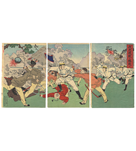 great victory of japan, war print, senso-e, battle, japanese history, imperial army, meiji period